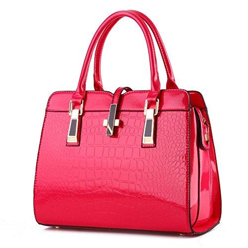 koson-man-stile-vintage-da-donna-in-pelle-sintetica-con-borsa-tote-bags-rosso-rosso-kmukhb052