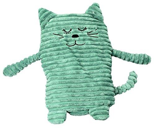 Inware – Bouillotte Peluche chat, 17 x 26 cm Couleurs Assortis, coussin chauffant