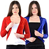 NumBrave Red and Blue Velvet Women's Shr...