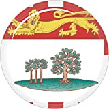3 D 50mm Kanada Prince Edward Island Fahnen Sticker