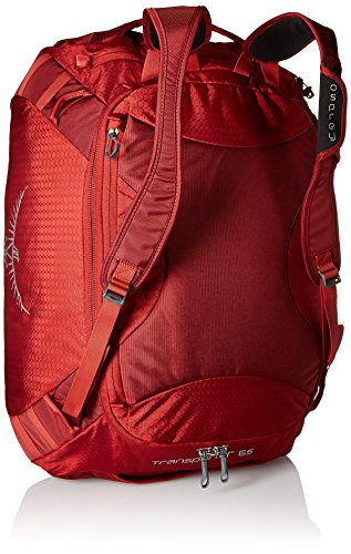 Osprey Transporter 65 Accessori all'aperto Zaini e nappe Grey, Grigio, Taglia Unica HOODOO RED