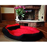 """PetsMaker"""" Deluxe Pet Bed For Dogs And Cats Velvet Ultra-Soft Plush Solid Pet Sleepeer -Medium - B07BWSXM7M"""