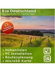 8 GB Deutschland Topo Karte - Für Garmin Dakota 20 & Oregon 300 - Nur original über mapshop24