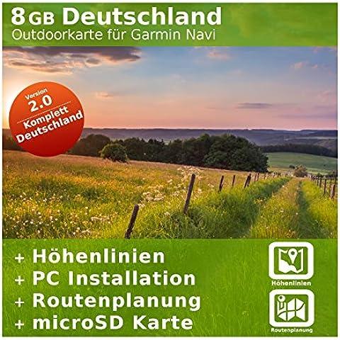8GB Germania topo scheda–per Garmin Colorado 300&