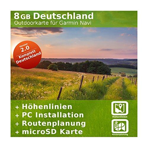 8GB Germania topo scheda-per Garmin Colorado 300&