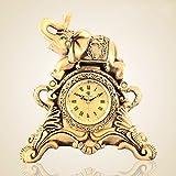 Tischuhren Europäische Stil Uhr Antike Mode Kreative Wohnzimmer Dekoration Elefant Uhr Pendeluhr Quarzuhr