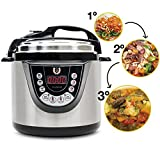 Cecotec Ollas GM Modelo D - Robot de cocina programable multifunción, 90 Kpa, 9 menús, 1000W, con capacidad de hasta 6 litros