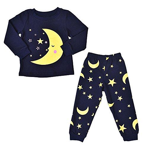 Mbby Tuta Bambina 2 5 Anni Completino Bambino Ragazza E Ragazzi 2 Pezzi Pigiama Tute Invernale Autunno Maglietta e Pantaloni Stampe Set Caldo Manica