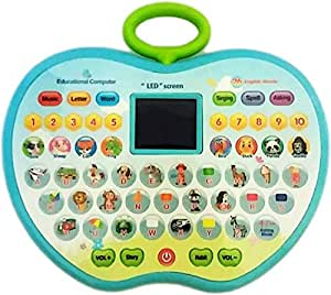 SUPER TOY Educational Computer ABC and 123 Learning Kids Laptop with LED Display and Music