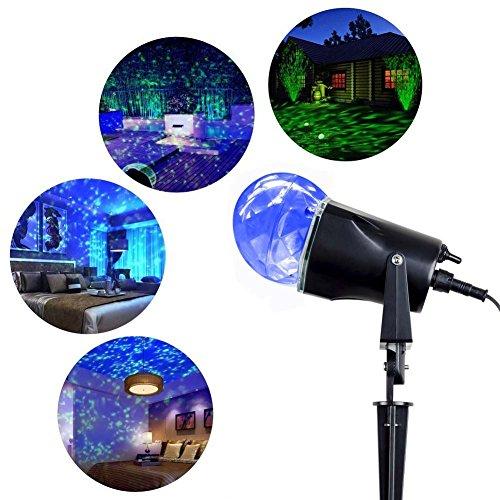 Blinngo disco Lampe LED Projektor Kugel Licht Wasserdicht Scheinwerfer mit Flammenbeleuchtung Zweifarbige veränderungen Für Bar Bühne Karaoke Weihnachten