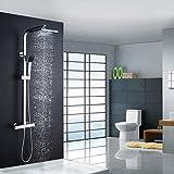 Best Sistemas del juego de mano - Auralum® clásico de sistema ducha Termostato Cuadrado con Review