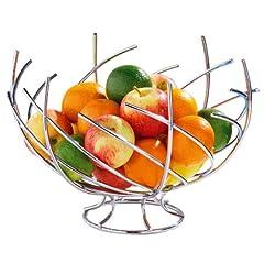 Idea Regalo - Premier Housewares 0509291 Cesto di Frutta, Forma di Nido Cromato