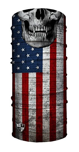 SA Face Shield Multi Function Mask Scarf Bandana American Flag Skull - THE ORIGINAL -