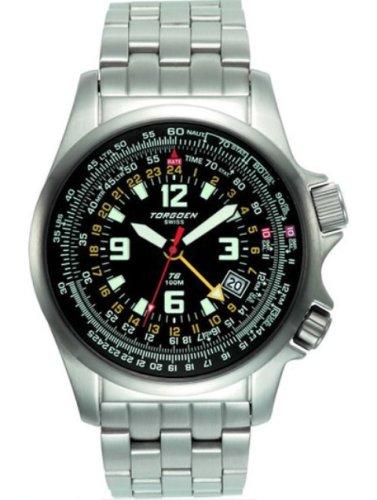 Torgoen T60102B01 - Reloj de mujer de cuarzo, correa de acero inoxidable color gris