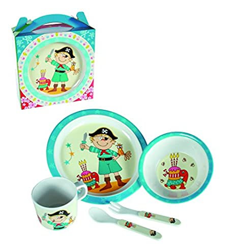 Plastic Pirate Dinner Set For Boys - In a Gift Box