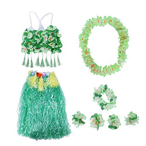 Erwachsene Tragen Hawaiian Gras Rock Dance Kleidung Set für Beach Party Sommer Frauen Kostüme Set Party Favors(3#) ()