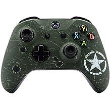 eXtremeRate Funda Cubierta Shell Superior Carcasa Frontal Antideslizante para Mando Xbox One S/X(Verde del ejército)