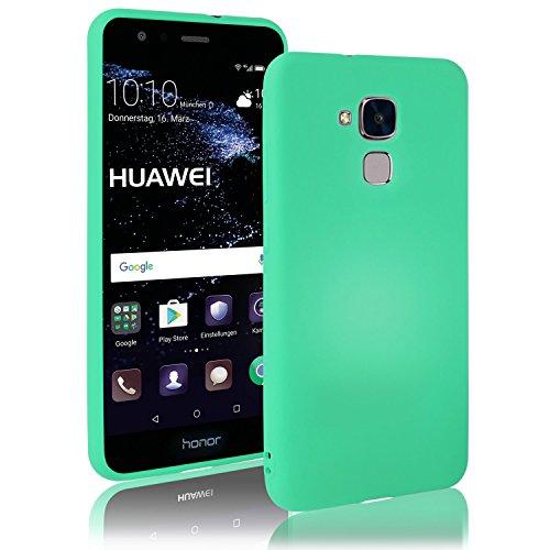 Movoja Huawei-Honor-5C Hülle Case | Mint matt | Soft Touch TPU | Perfekter Schutz | Schutzhülle Matt Huawei Honor 5C Cover Huawei Honor-5C Mint