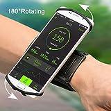 VUP Brassard 180° Rotation de Sport pour Smartphone Bracelet pour iPhone X/8/7 Plus/6/6s, Samsung...