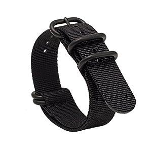 Gemony NATO Armband 5-Edelstahl-Ringe Premium-Ballistic Nylon Zulu Diver-Uhrenarmband 20mm/22mm