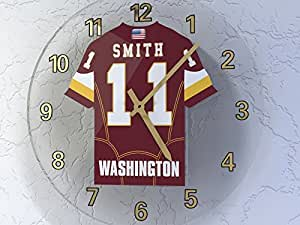 MyShirt123 WASHINGTON REDSKINS NFL JERSEY WALL CLOCK - NFC EAST - ANY NAME & NUMBER, YOU CHOOSE ACRYLIC SHIRT DESIGN