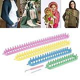 Telaio per maglieria dritto Rosso Verde Giallo e blu Crea sciarpe Piumini Calzini per fare sciarpe, trapunte, calzini, guanti senza dita