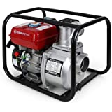 "EBERTH 3"" Benzin Wasserpumpe Motorpumpe Gartenpumpe (60.000 l/h, 6,5 PS Benzinmotor, 3 Zoll Anschluß, Förderhöhe max.: 30 m, Ansaughöhe max.: 7 m, Seilzugstart)"