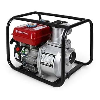 """EBERTH 3"""" Pompe à eau thermique (60.000 l/h, 6,5 CV Moteur à essence, Connection 3 Pouces, 30m Hauteur de refoulement, 7m Hauteur d'aspiration)"""