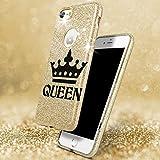 EGO® Coque paillettes Étui pour Samsung Back Case Bumper brillant Transparent TPU Bling Doux Glamour pour téléphone portable für Samsung A310 Galaxy A3 2016 Queen Gold