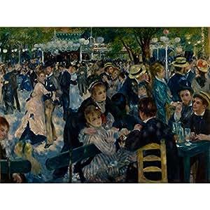 Niik Quadro + Telaio (BB) bal au moulin de la galette di auguste renoir 100 x 73 x 1,7 cm falso d'autore stampa su tela
