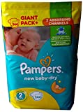 144 Pampers Windeln New Baby-Dry, Gr. 2, 3-6 KG