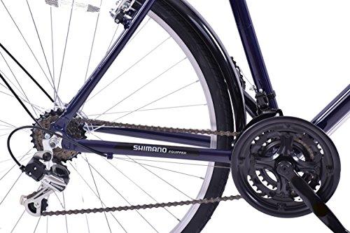 "51IDXS7adAL - Professional Downtown 700c Wheel Mens Hybrid Bike Alloy 18"" Frame Dark Blue 18 Speed & Mudguards"
