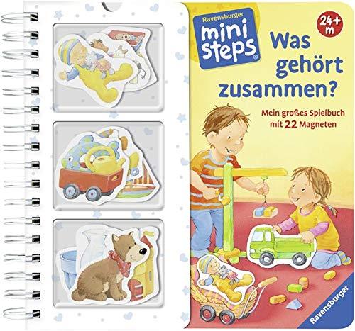 Was gehört zusammen?: Mein großes Spielbuch mit 22 Magneten. Ab 24 Monate (ministeps Bücher)