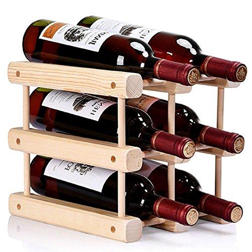 Ducomi Weinflaschenhalter Modular, Modular für 6 Flaschen - Bücherregal aus hochwertigem,...