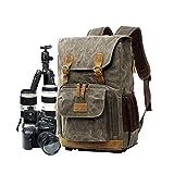 Borsa fotografica borsa tela, zaino per fotocamera reflex borsa DSLR grande borsa da viaggio anti-shock impermeabile per fotocamera professionale organizzatore lente fotocamera verde