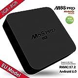 SCS ETC 4K Android 6.0 TV Box, Smart TV Box Quad Core 2 GB RAM 8 GB ROM WiFi Smart TV Box Supporta 4K HD H.265 3D foto Video Audio Subtitle Kodi DRM Display