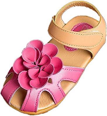 Tefamore Zapatos Sandalias Bebe de Cool Sandalias de Flor Verano Antideslizante Niños Pequeños Chica