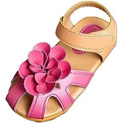 Tefamore Zapatos Sandalias Bebe de Cool Sandalias de Flor Verano Antideslizante Niños Pequeños Chica (26, rosa caliente)