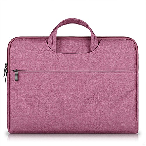 G7Explorer Water-resistant Laptop Sleeve Case Bag Portable Computer handbag For Macbook Pro Air and other Notebooks 15.6 inches Rose Red