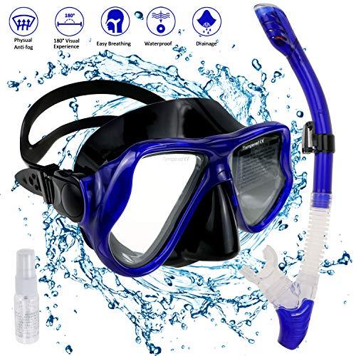 Schnorchel Set Erwachsene Schnorchelset Tauchset Taucherbrille mit Schnorchel für Herren und Damen Tauchen Schnorcheln (Style 1)