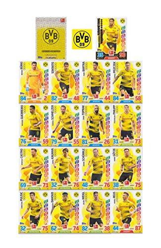 Match Attax Bundesliga 2017 2018 - Borussia Dortmund Mannschafts-Set 18 Karten Basiskarten Clubkarte Starspieler BVB - Deutsche Ausgabe