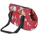 borsetta - SODIAL(R) Morbida borsa da viaggio trasportare spalla borsa per il piccolo cane dimensioni / cat-rosso