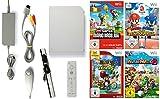 Nintendo Wii Konsole inkl. Zubehör und mit 4 Super Mario Spielen