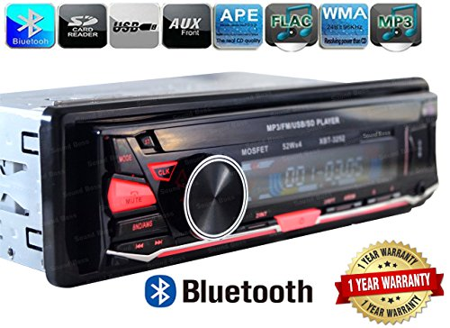 Sound Boss XBT-3252 Detachable Bluetooth Wireless With Phone Caller ID Receiver Car Media Player