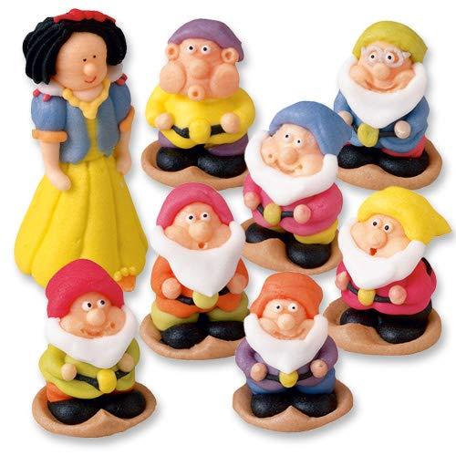 Schneewittchen und 7 Zwerge Figuren (Schneewittchen-kuchen)