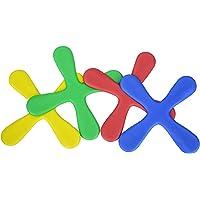 LegendTech 4 STÜCK Boomerang Bunte Fliegende Spielzeuge Weiche Eva-Kunststoffe Bumerang Zum Kinder Spiel für Drinnen 20 * 20 cm Rot/Blau/Gelb/Grün