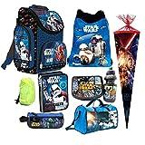 Star Wars 9 TLG. Schulranzen RANZEN Episode 7 SCHULTÜTE 85 Rucksack Tasche Set + Sticker von Kids4shop