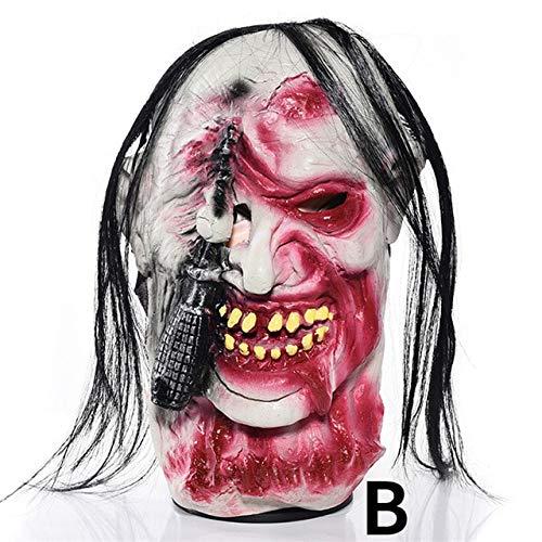 WSJDE Halloween Maske Double Chins Lustige Latex HorrorScary Maske Dekoration für Cosplay Kostüm Party Verwenden Maskerade Michael MyersB