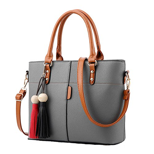 Damen Tasche Freizeit Tasche Schief Kreuz Paket Schultertasche Handtasche Einfach Wild Grey