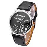 JSDDE Damen Armbanduhr, mit Aufschrift